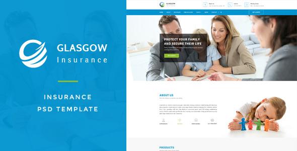 Glasgow : Insurance PSD Template