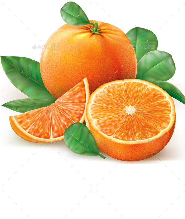 Group Oranges Fruits