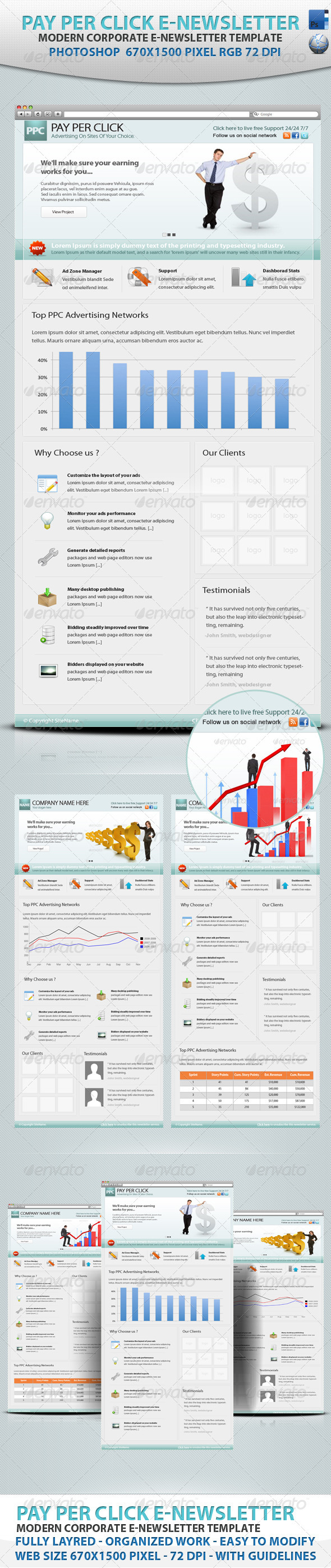 GraphicRiver Pay Per Click E-newsletter 807436