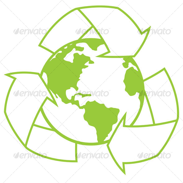 GraphicRiver Planet Earth With Recycle Symbol 68650