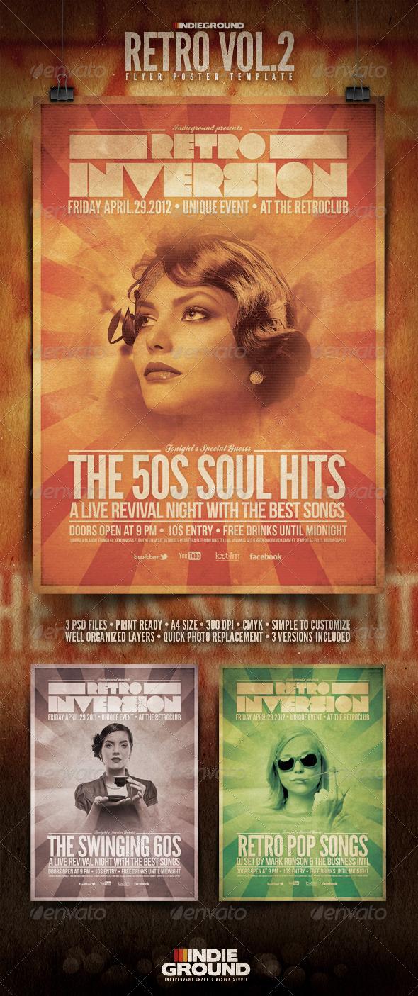 Retro Flyer/Poster Vol. 2 - Clubs & Parties Events
