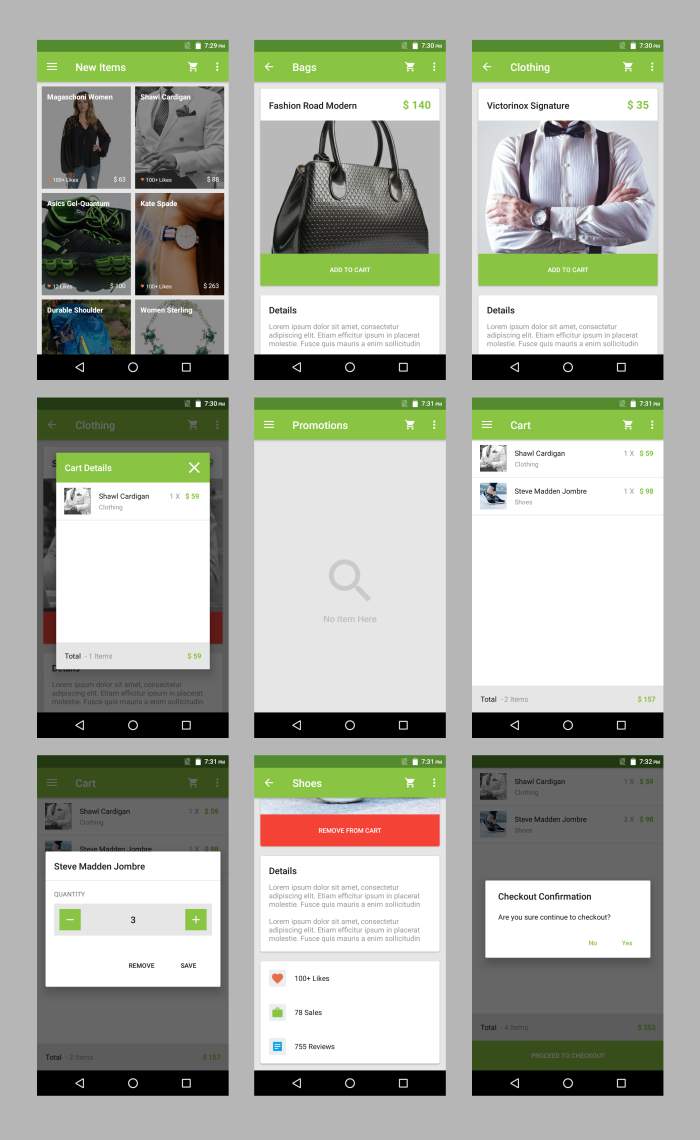 Android Material UI Template 4.0 - 33