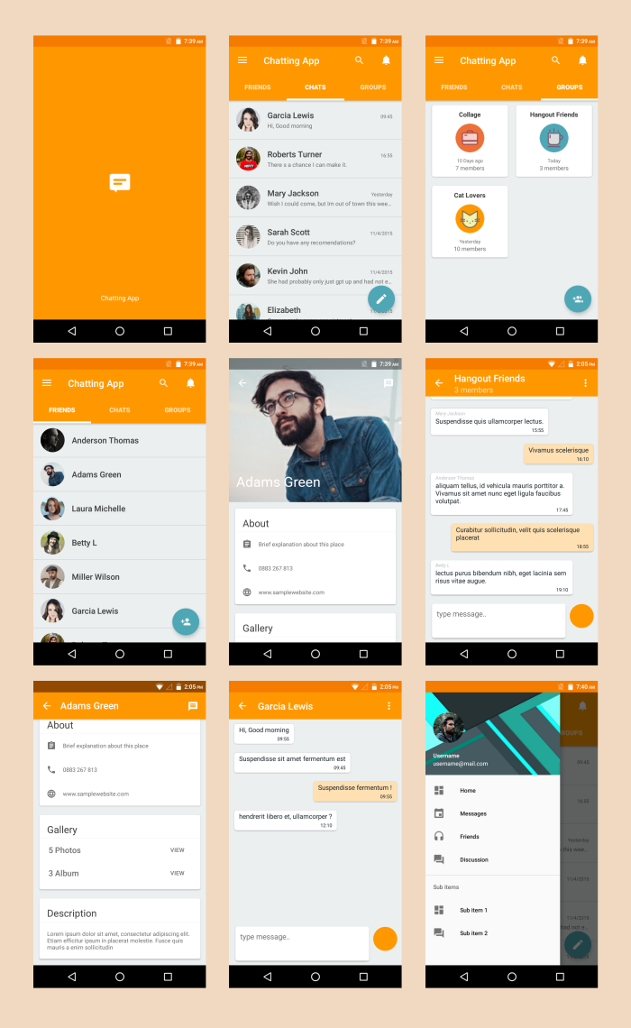 Android Material UI Template 4.0 - 35