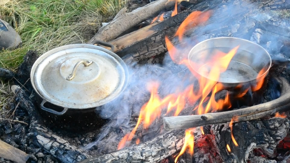 Download Cooking On Open Fire With Wooden Logs nulled download