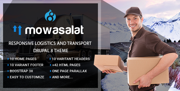 Mowasalat | Responsive Logistics and Transport Drupal 8 Theme
