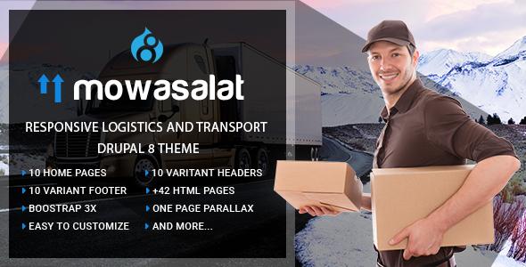 Image of Mowasalat | Responsive Logistics and Transport Drupal 8 Theme