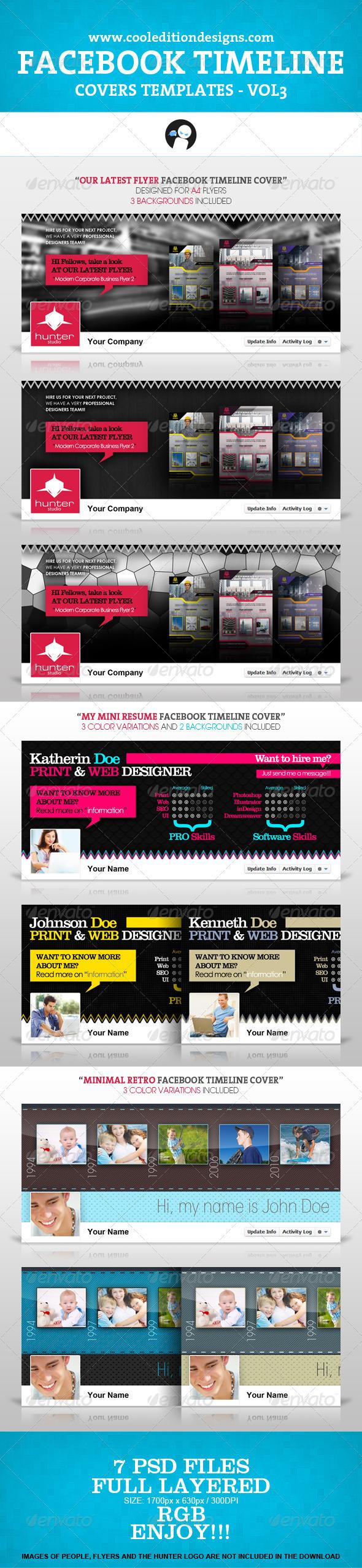 Facebook Timeline Covers Templates VOL3 - Facebook Timeline Covers Social Media