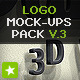 Realistic 3D Wall Logo Mockup - Smart Template V.3 - GraphicRiver Item for Sale