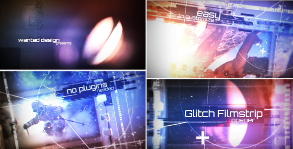 Filmstrip Glitch Broadcast Package (Miscellaneous) #Envato