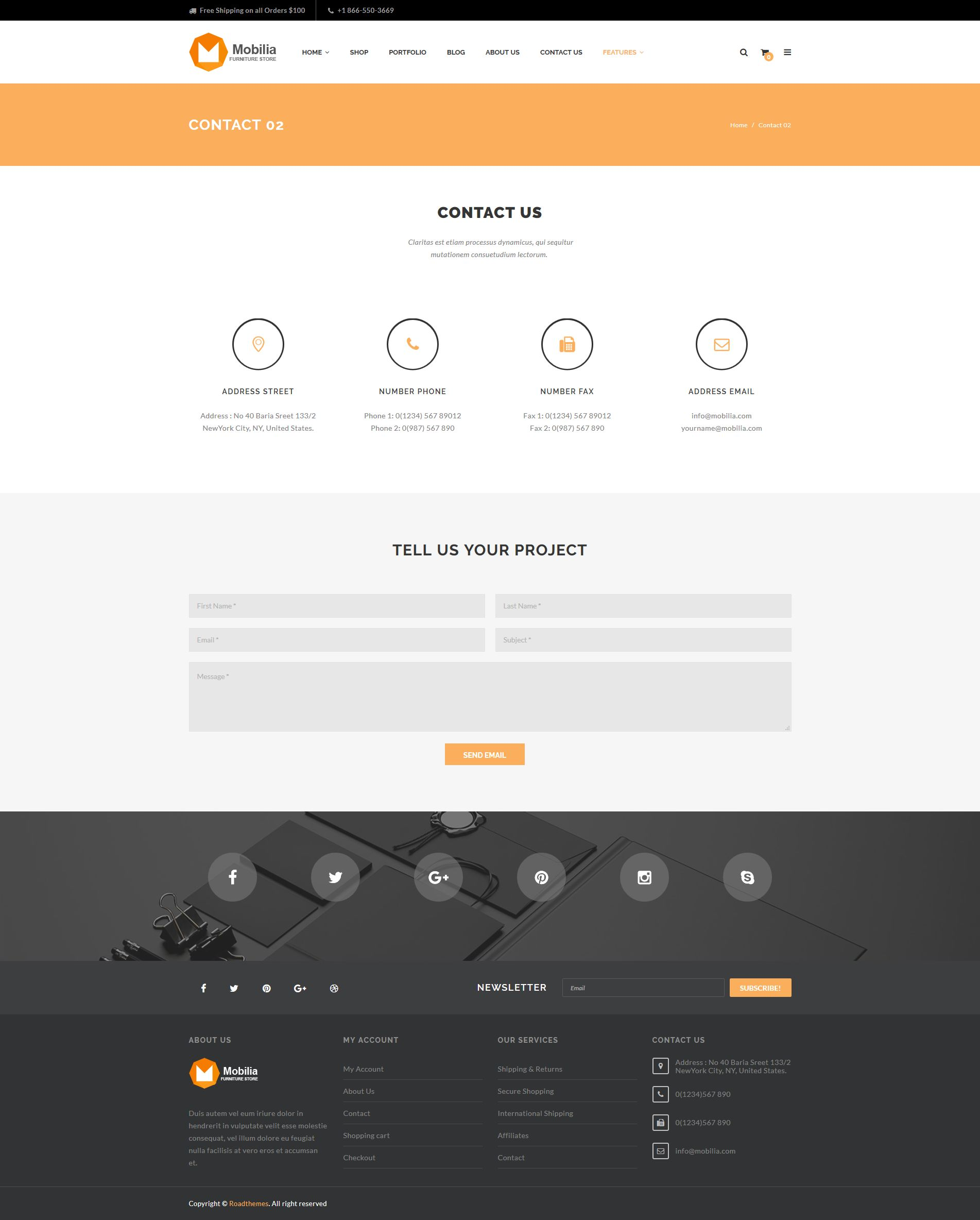 Mobilia furniture woocommerce wordpress theme by for Mobylia mega store