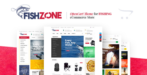 Lexus Fishzone - Multipurposes Opencart theme