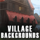 5 Village 2D Game Backgrounds - Parallax and Stackable