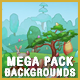 20 Cartoon Game Backgrounds Bundle Pack - Parallax and Tileable
