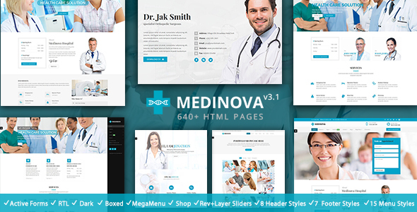 Medinova - Health & Medical Responsive HTML5 Template