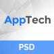 AppTech - App Landing PSD Template