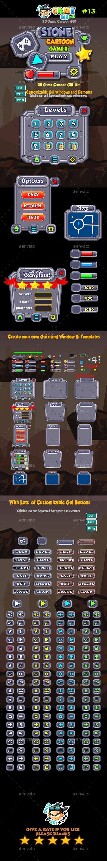 Stone Cartoon Game Ui Pack 13 (User Interfaces)