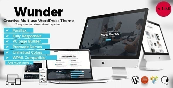 Wunder - Creative Multiuse WordPress Theme