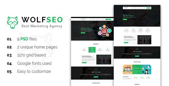 WOLFSEO - Digital Marketing Agency PSD Template