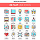 Design and Development Flat Line Web Icons