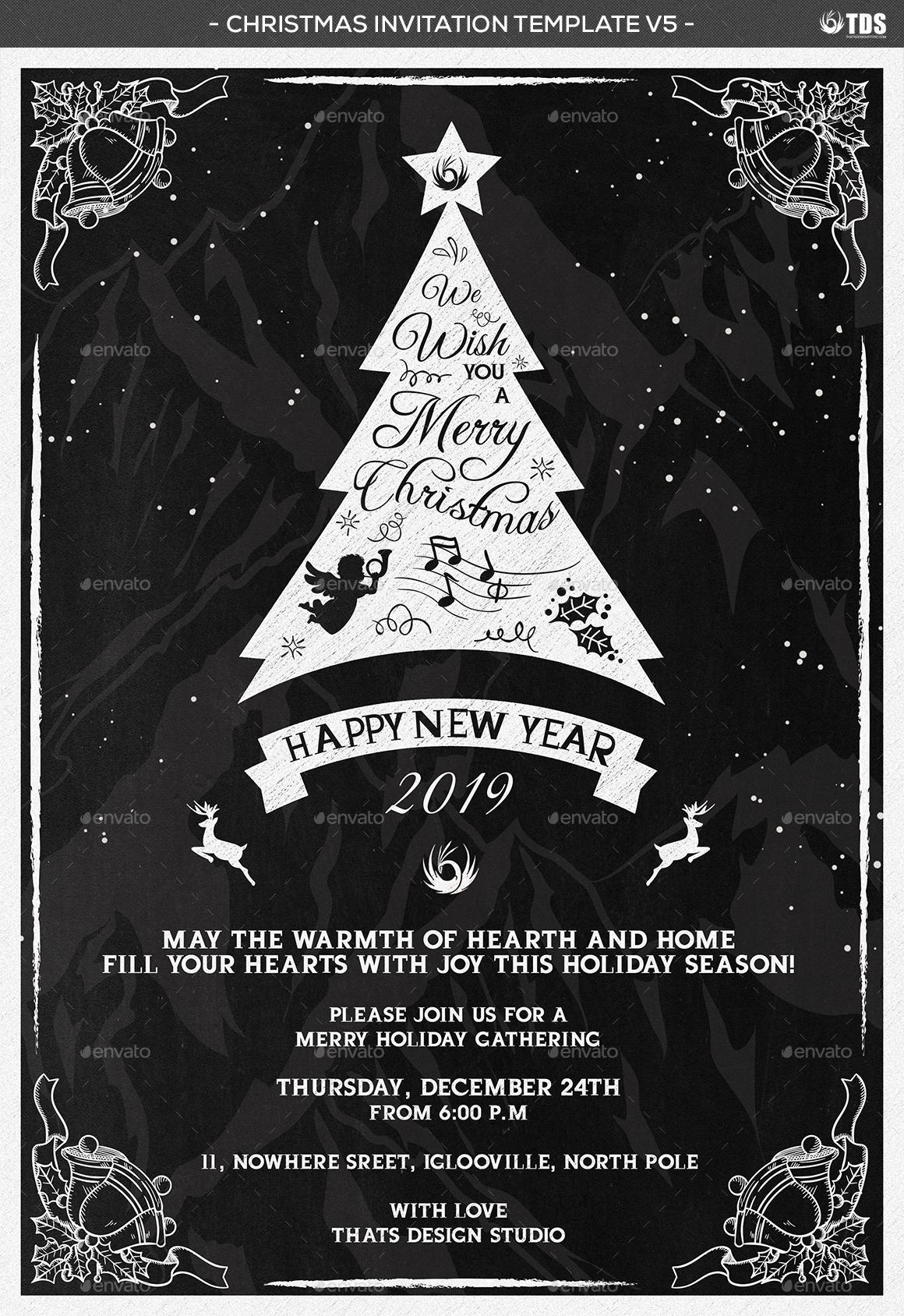 christmas invitation template v by lou graphicriver invitation template v5 jpg