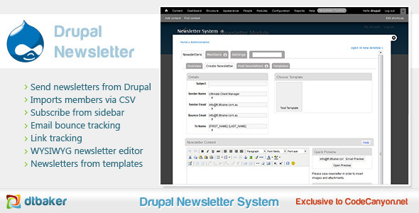 CodeCanyon Drupal Email Newsletter Module 1765020