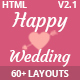 HappyWedding - Beautiful Wedding Event & Planner Responsive HTML5 Template
