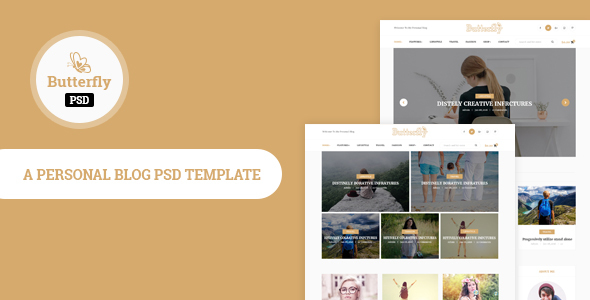 Butterfly- Personal Blog PSD Template