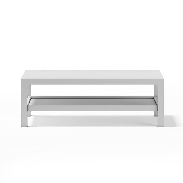 3DOcean White Rectangular Coffee Table 17782681