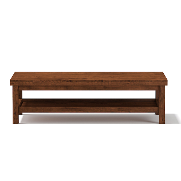 3DOcean Wooden Rectangular Coffee Table 17782695