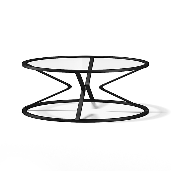 3DOcean Round Glass Coffee Table 17782769