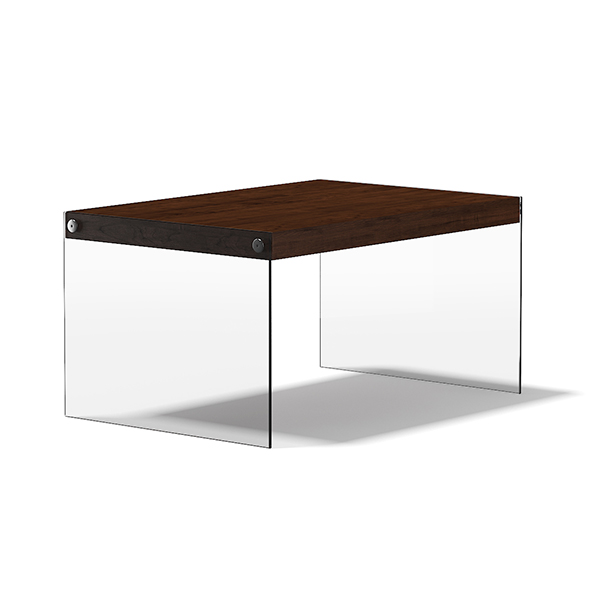 3DOcean Wooden Coffee Table with Glass Sides 17782778