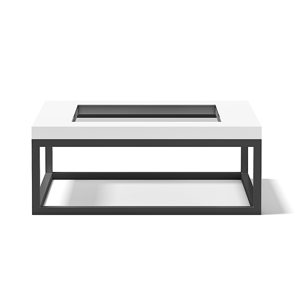 3DOcean Square Coffee Table with Glass Window 17782802