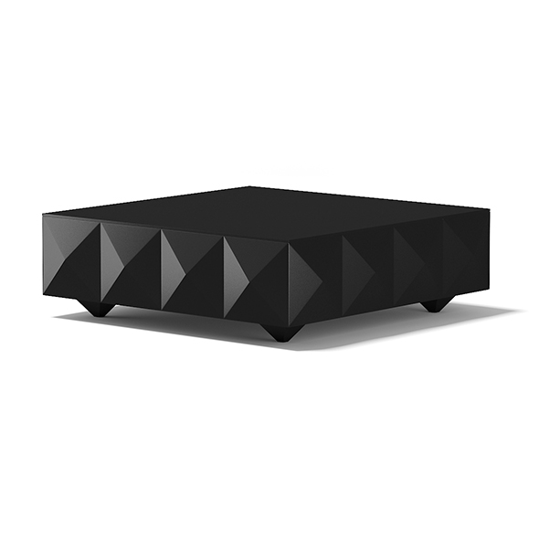 3DOcean Square Black Coffee Table 17782899