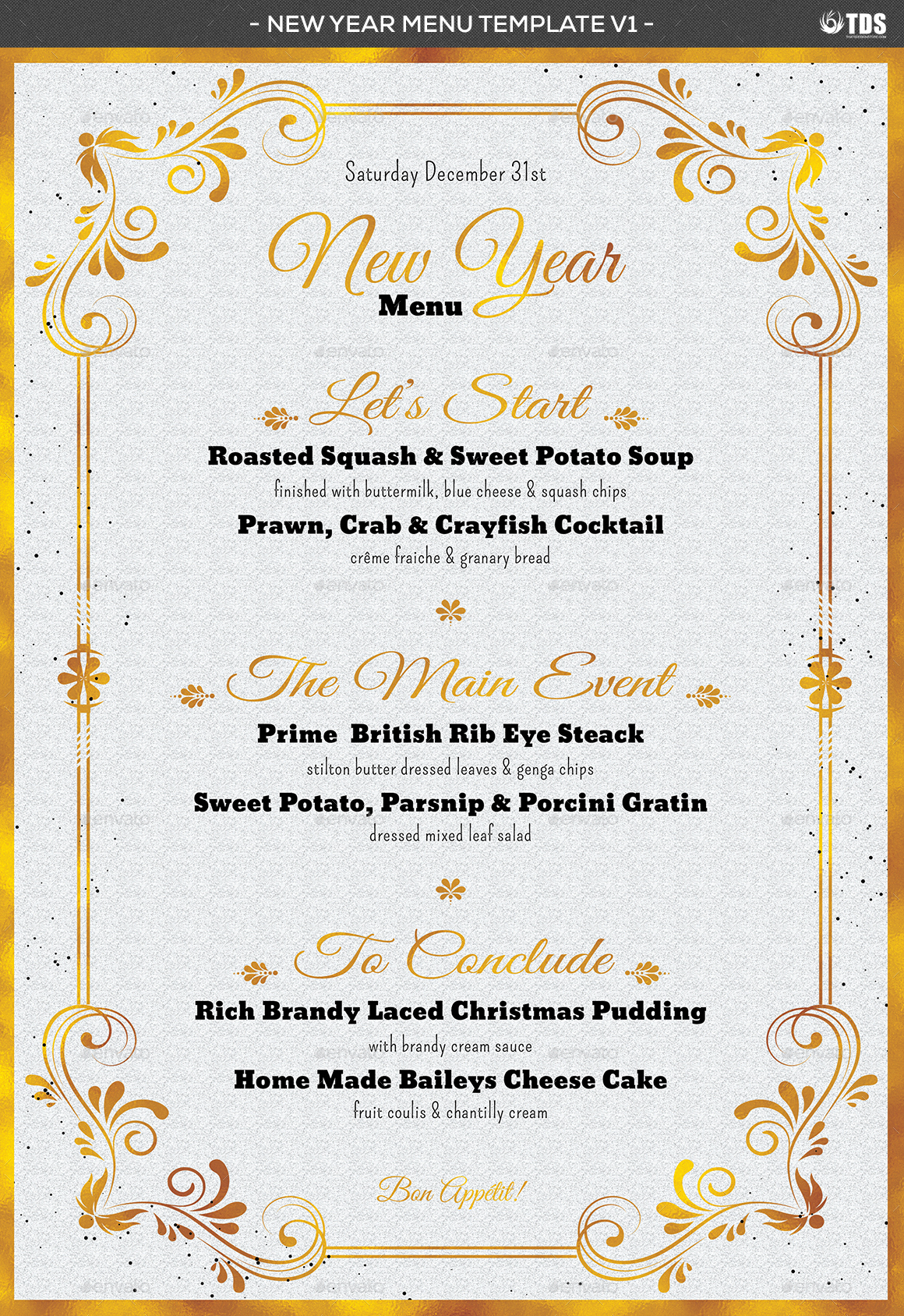 new year menu template v1 by lou606