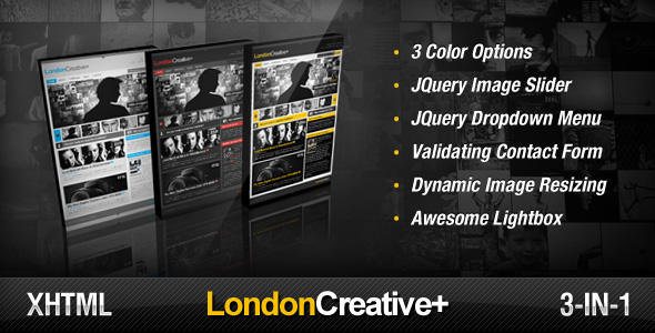 London Creative + ( Portfolio & Blog Template ) - Screenshot
