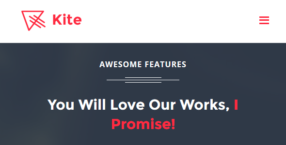 Download Kite - App Landing Page HTML Template nulled download