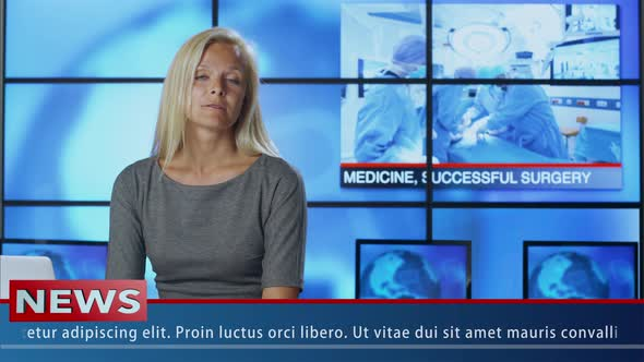 Download News Presenter Speaking about Medicine nulled download