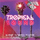 Tropical Sound CD Cover Template