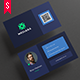 Minimal Web Style Business Card Template