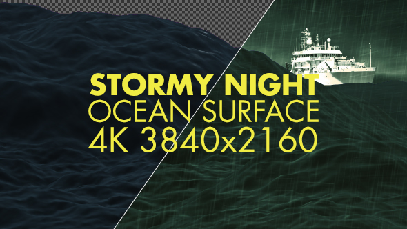 Download Rough Night Ocean Surface 4K nulled download