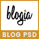 Blogia - Blog PSD Template