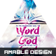 The Word was God Church Flyer/Poster