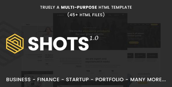 Shots - Responsive Multi-Purpose HTML5 Template