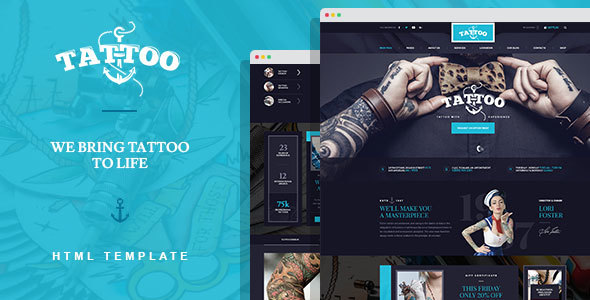 Ink Arts - Tattoo Salon HTML Template