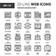 Web Design and Development Flat Line Icons