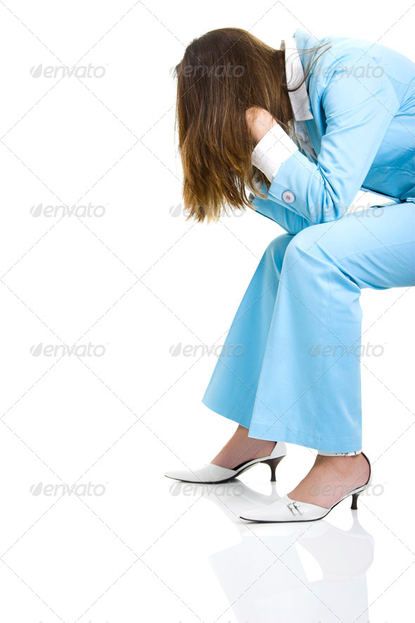 Stress woman - Stock Photo - Images