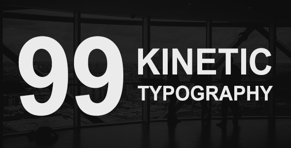 99 Kinetic Titles Pack Corporate Envato Videohive