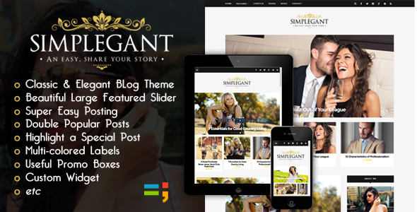 [update] Simplegant - A Responsive Blogger Blog Theme (NEW)