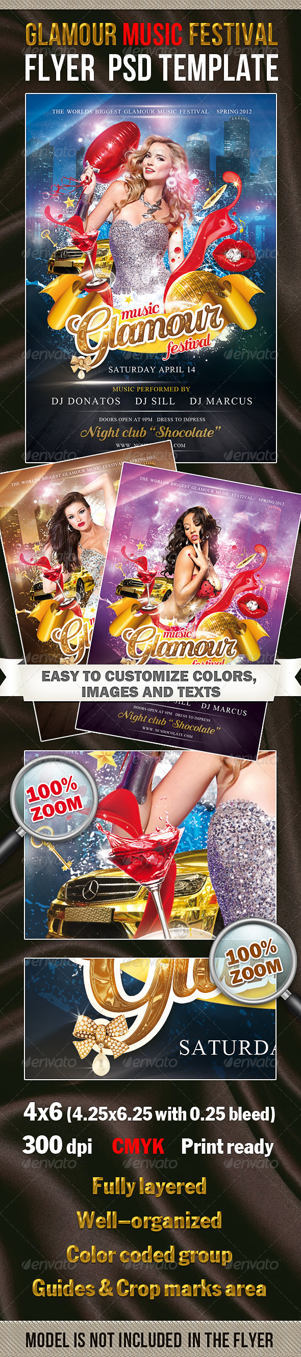 Glamour Music Festival PSD Template