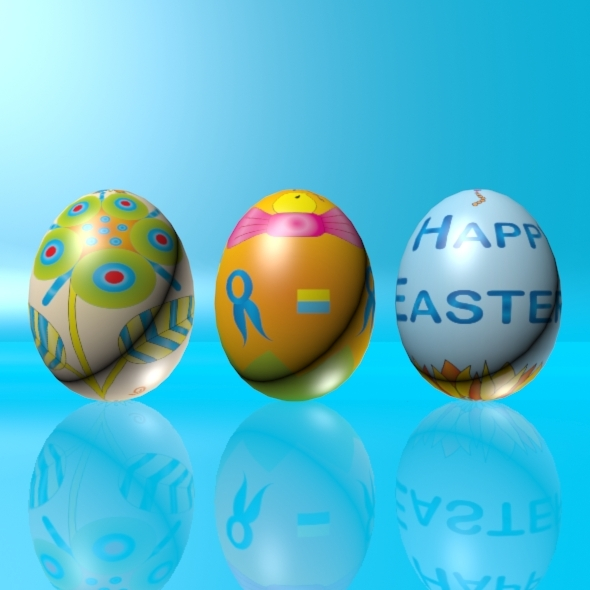 3DOcean Easter Eggs Set 02 1767439